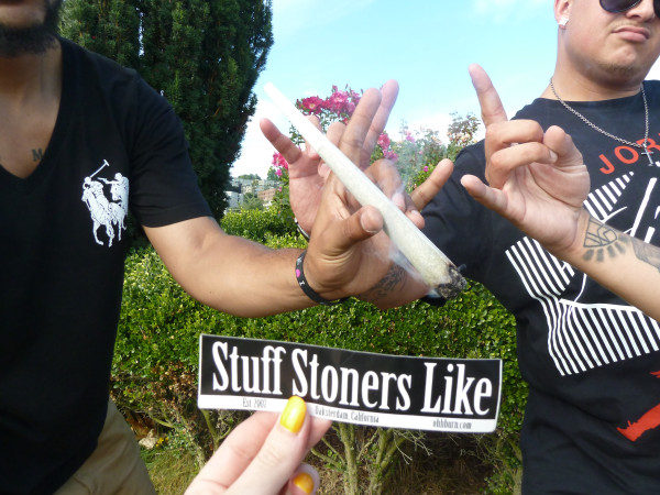 Stoners Like HUGE joints at Hempfest 2011