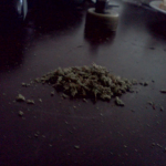 ground marijuana ready for rolling into a joint